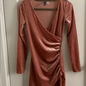 This is a velvet fitted dress, by Forever 21